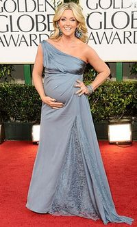 Jane krakowski cornflower blue badgley mischka golden globes
